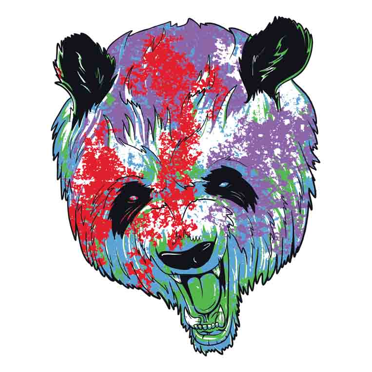 Colour Splattered Panda