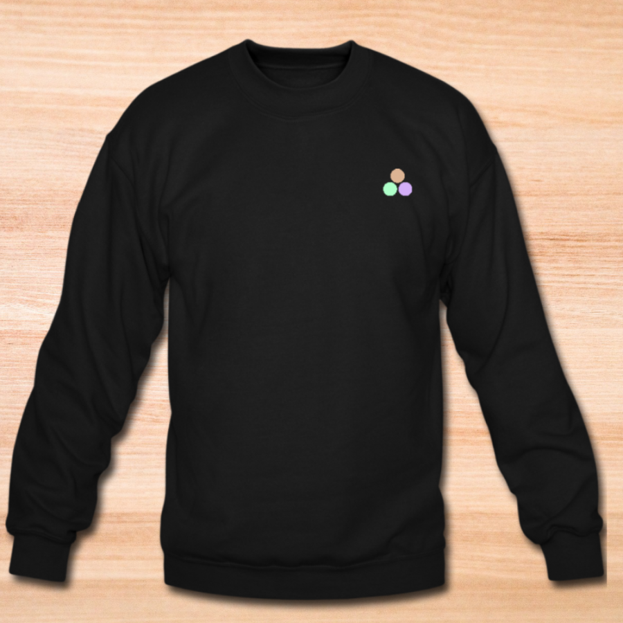 Black sweater for women with Babes Almighty logo on the left front side.